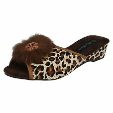 Women's Synthetic Animal Print Slippers
