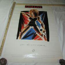 "Vtg 1988 Original TINA TURNER Live in Europe Promo Music Poster, 36"" x 34"""
