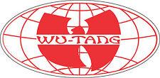 "Wu Tang Clan Music Bumper sticker, wall decor, vinyl decal, 5""x 2.5"""