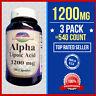 3 Pk = 540 Caps Alpha Lipoic Acid  600mg +600=1200 Per Serving Metabolism USA