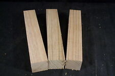 "3 Pc Butternut 1 1/2 sq. x 8 1/2"" Carving Lathe Turning Blanks Craft Wood Lumber"