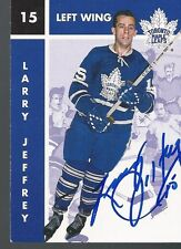 Toronto Maple Leafs LARRY JEFFREY Signed Card