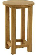 Langdale solid oak furniture tall circular lamp table