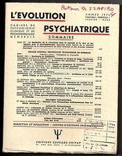 L'EVOLUTION PSYCHIATRIQUE 1970 n°1 HENRI EY DISSOLUTION DE LA CONSCIENCE