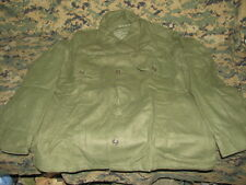 field shirt wool olive green 108 date 53 LARGE NOS military cold weather winter