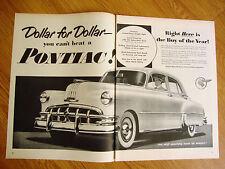 1950 Pontiac 8 Silver Streak Ad  Dollar for Dollar You Can't Beat a Pontiac
