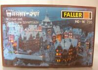 MINT FALLER 735 HO HOe HOm N GAUGE KIT - WINTER SCENE SET WITH TREES