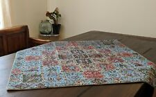 Colorful Patchwork Vintage Antique Persian Termeh Placemat Table Runner Cloth