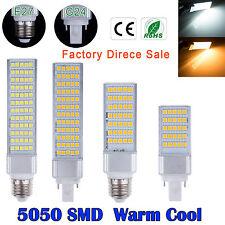 E27 G24 5050 SMD 5W 7W 9W 11W 13W LED de luz de lámpara Horizontal Plug maíz