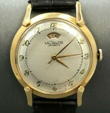 VINTAGE LECOULTRE AUTOMATICO RISERVA DI POTENZA 14 K Solid Gold Watch pretendenti