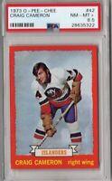 ~RARE~ 1973-74 O-PEE-CHEE HOCKEY NHL #42 CRAIG CAMERON PSA 8.5 NY ISLANDERS