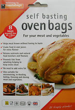 Self Basting Oven Bags, Meat Chicken Turkey & Vegetables Pack 8 by Toastabags