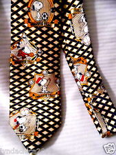 Vintage SNOOPY on the Computer Necktie ***PEANUTS*** Licensed Merchandise
