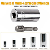 1/4'' 3/8'' 1/2'' Universal Super Grip Socket Wrench Spanner Adapter Power Drill