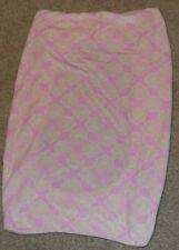 Jill McDonald Changing Table Baby Mattress Cover Light Pink w/ Off White Floral