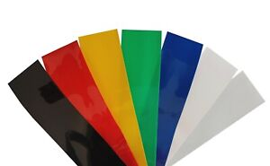 2m Akku Schrumpfschlauch PVC von 20mm bis 200mm Flachmaß, Farbwahl