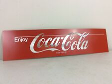 "Coca Cola Aluminum Metal Sign w/ Adhesive Back Mancave Decor 18.5"" x 4.5"""