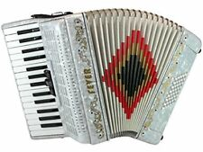 Fever Piano Accordion 3 Switches 30 Keys 48 Bass, White