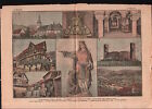 Crypte de l'abbatiale Saint-Pierre-et-Saint-Paul Andlau Alsace 1919 ILLUSTRATION