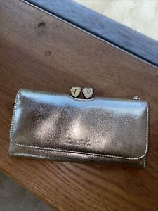Ted Baker Leather Gold Rose Purse