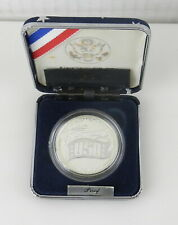 1991 US 50th Anniversary USO Commemorative SILVER PROOF DOLLAR $1 Coin ~ C10