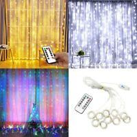 300 LED Curtain Light String 3m*3m USB Powered Waterproof Twinkle Wall Lights