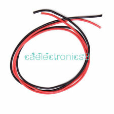 Black Red 14 AWG Gauge Wire Flexible Silicone Stranded Copper Cables For RC