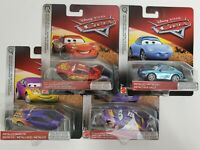 Disney Pixar Cars Lot of 4 Metallic Scavenger Hunt - McQueen Sally Swift Marilyn