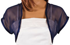 Ladies Navy Blue Chiffon Bolero Shrug Sizes 4-32
