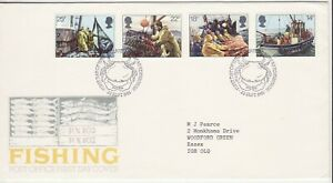 GB Stamps First Day Cover Fishing Industry, net, trawler, sea etc SHS Crab 1981