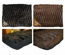 Dog Bed Hollow Fibre Pet Cushion Pad Zipped Removable Soft Fur Cover 80cm x 58cm