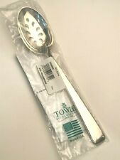 Old Lace by Towle Sterling Silver Pierced Serving Spoon, New in Wrapper