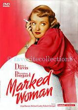Marked Woman (1937) - Bette Davis, Humphrey Bogart, Lola Lane - DVD NEW