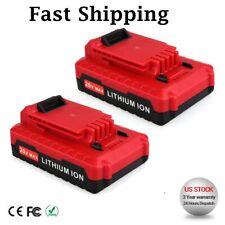 2 Pack PORTER CABLE PCC680L PCC682L PCC685L 20V Max Lithium-Ion 2.0Amp Battery