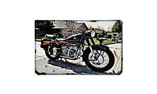 Condor A580 1 Motorbike Sign Metal Retro Aged Aluminium Bike