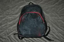"Fuel Classic Dome Backpack School Bag Black/Red Spider Web Print 18""x15""x5"" Nwt"