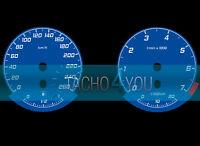Tachoscheibe für BMW 3er E90 & 5er E60 Benziner 260 kmh km/h M3 M5 526702 Blau