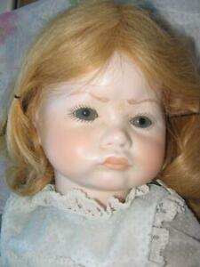 """Doll by Jerri #160 Pouty Baby Porcelain 1980 20"""" With Tag No Box Rare/htf"""
