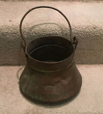 Vintage Primitive Copper Bucket: Forged Handle, Lots of Patina!