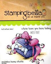 New Stamping Bella Cling Rubber Stamp STUFFIES PEEKABOO BUNNY MISS YOU friend