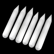 LOT 6 Selenite Crystal Healing Wands Polished Point Round Massage CHARGE Cleanse