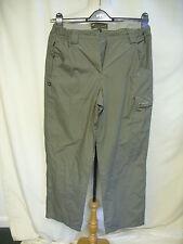 "Ladies Trousers Mountain life UK 12, khaki cargo hiking, inside leg 30"" 0632"