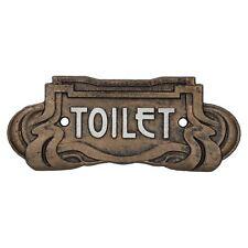 Art Nouveau Toilet Cast Iron Sign Plaque Door Wall Cafe Shop Pub Hotel Bar