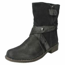 Zip Canvas Ankle Boots for Women