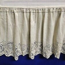 Lace Bed Ruffle Ivory Victorian Rose Twin Cotton Blend Split hemmed Corners