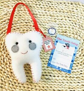 Tooth Fairy Pillow Red  - Handmade- Pocket on back for lost tooth/money  Unisex