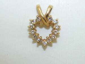 14k Yellow Gold Beautiful Heart Pendant