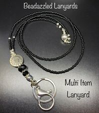 Beaded Lanyard Necklace,ID Pass Holder,Cruise Pass Lanyard,Security Pass, L89