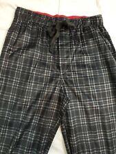 IZOD ~Mens Black Plaid Silky Fleece Pajama Pants ~29 inch inseam~Size Small ~New