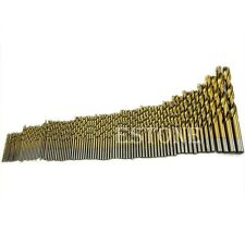99pcs Titanium Coated 1.5mm - 10mm Steel HSS High Speed Drill Bit Set Tool